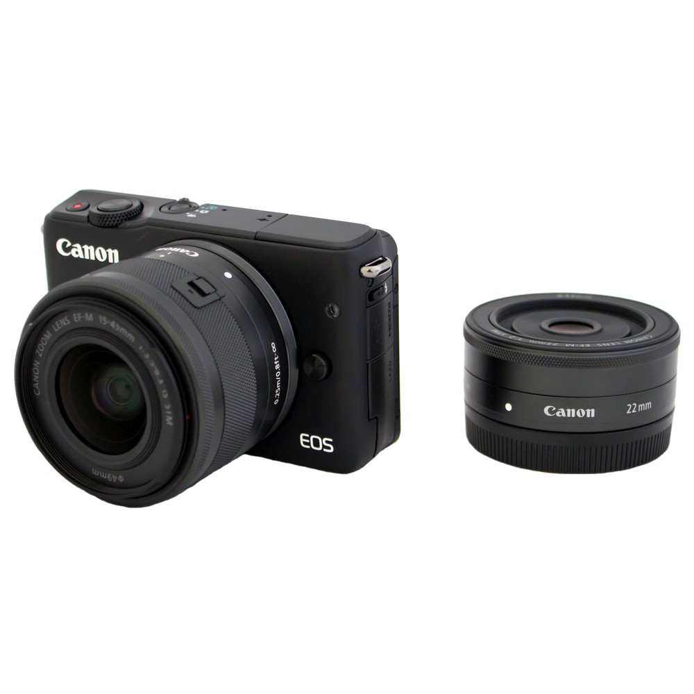 キヤノン ミラーレス一眼カメラ EOS M10 ダブルレンズキット ブラック