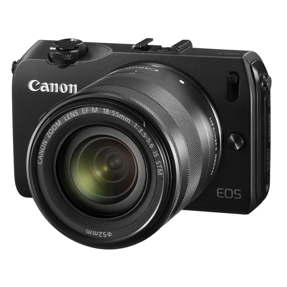 【キヤノン/ミラーレス一眼カメラ】1800万画素 EOS M ダブルレンズキット ブラック