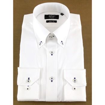 アダムアンドイヴ 無地 Yシャツ ホワイト